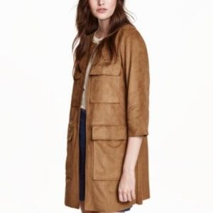 H&M Faux Suede Overcoat